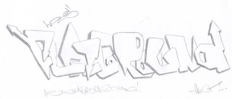 Алфавит граффити граффити на бумаге
